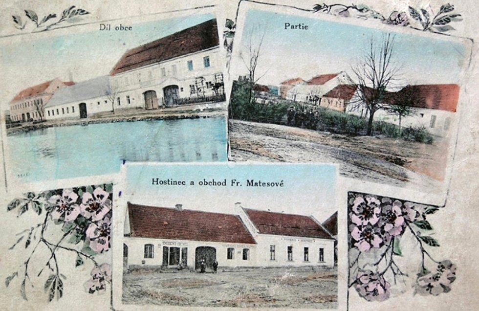 Chrášťany na historických pohlednicích.