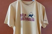 Nákup trička podpoří záchranu zvířat v Austrálii.