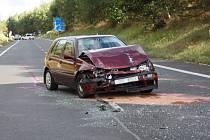 Těžká havárie u Bucku poslední srpnovou neděli kolem páté odpoledne