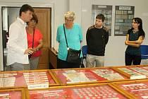 Zahájení výstavy 100. výročí československé koruny 1919-2019, která je k vidění v přednáškovém sále Státního okresního archivu Rakovník.