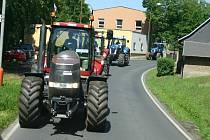 Protest zemědělců proti zrušení zelené nafty