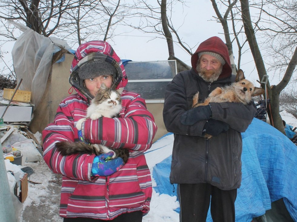 Návštěva u bezdomovců Hany a Josefa