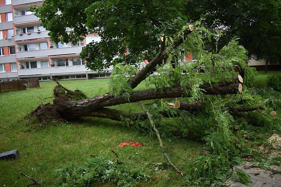 Bouře na Rakovnicku.