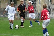 Nike Premier Cup na Kladně za účasti čtyř týmů: Kladno (ve žlutém), Rakovník (bílé dresy), Hořovicko(v červeném) a Beroun