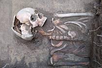 Nálezy z podzimního archeologického výzkumu ve Zbečně.