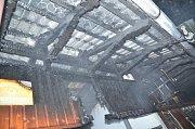 Plameny pohltily halu Kongo v areálu Tyršova koupaliště.