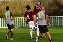Z fotbalového utkání krajského přeboru Nové Strašecí - Bohemie Poděbrady (1:1, pk 4:2)