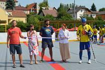 Slavnostní otevření zrekonstruovaného hokejbalového hřiště