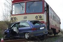 Nehoda na přejezdu v Rakovníku