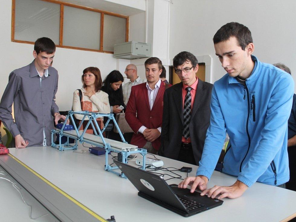 Otevření nové laboratoře na Střední průmyslové škole Emila Kolbena v Rakovníku