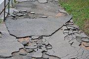 Následky bouře v Rakovníku