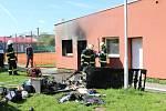 Vyhořela místnost na ubytovně ve sportovním areálu.