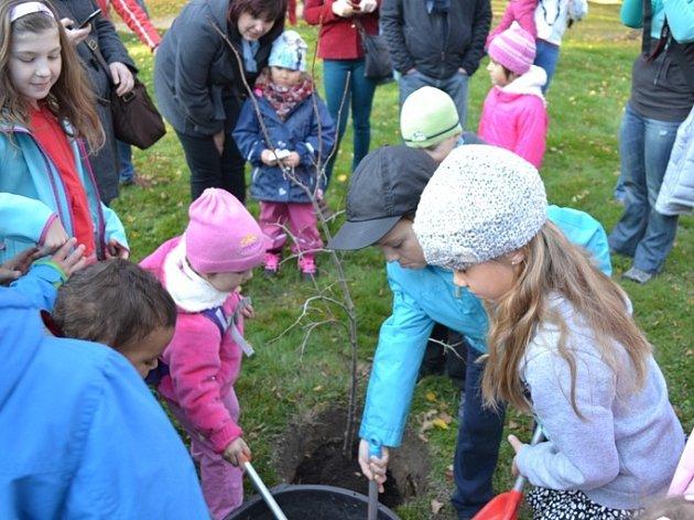Děti zasadily lípu