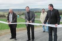 Slavnostní otevření nově opravené cesty