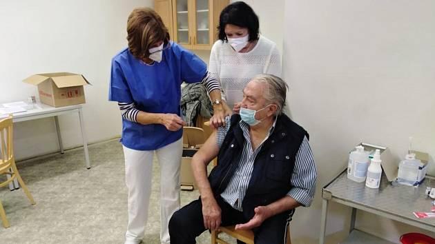 Očkování proti koronaviru v Novém Strašecí.