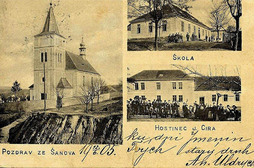 Pohlednice ze Šanova z roku 1905.