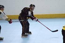 Finále I. ligy inline hokeje. Mistrem se stal Rakovník, zlatý gól vstřelil J. Pospíšil