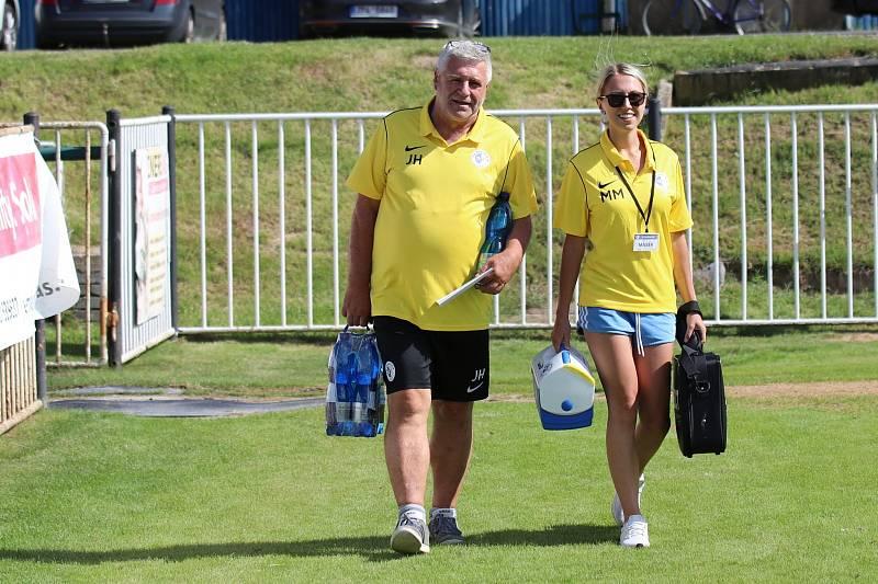ČFL: SK Rakovník (ve žlutém) - Viktoria Plzeň B