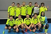 Florbalisté rakovnické Lokomotivy se dostali do čela soutěže.