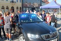 Den dopravní policie na Husově náměstí v Rakovníku.