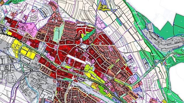 Územní plán města Rakovník.