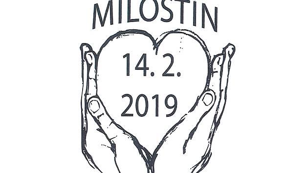 Letos je otisk razítka ve tvaru lidských dlaní svírajících srdce - uvnitř srdce najdete datum 14. února 2019, nad srdcem pak název obce – Milostín. Autorem návrhu je Eva Hašková.