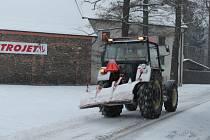 Sněhová nadílka v Rakovníku