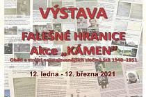 Plakát k výstavě Falešné hranice..