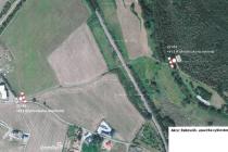Mapka s cyklostezkou Na Spravedlnosti v Rakovníku.