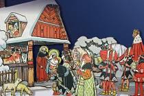 Vánoční výstava papírových betlémů v Rakovníku.