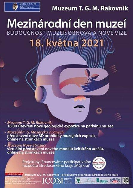 Plakát kMezinárodnímu dni muzeí na Rakovnicku.
