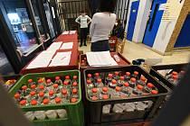 Distribuce dezinfekce Anti-Covid. Ilustrační foto.