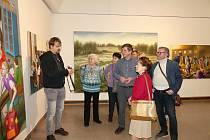 Komentovaná prohlídka výstavy Modrák Martina Kuriše v Nové síni Rabasovy galerie Rakovník.