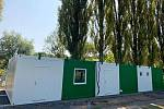 V létě roku 2020 byly ve Hředlích instalovány nové kabinové buňky.