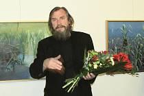 Slavnostní vernisáž Václava Zoubka v mansardě rakovnického muzea.
