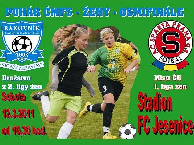 Plakát FK Rakovník - AC Sparta Praha