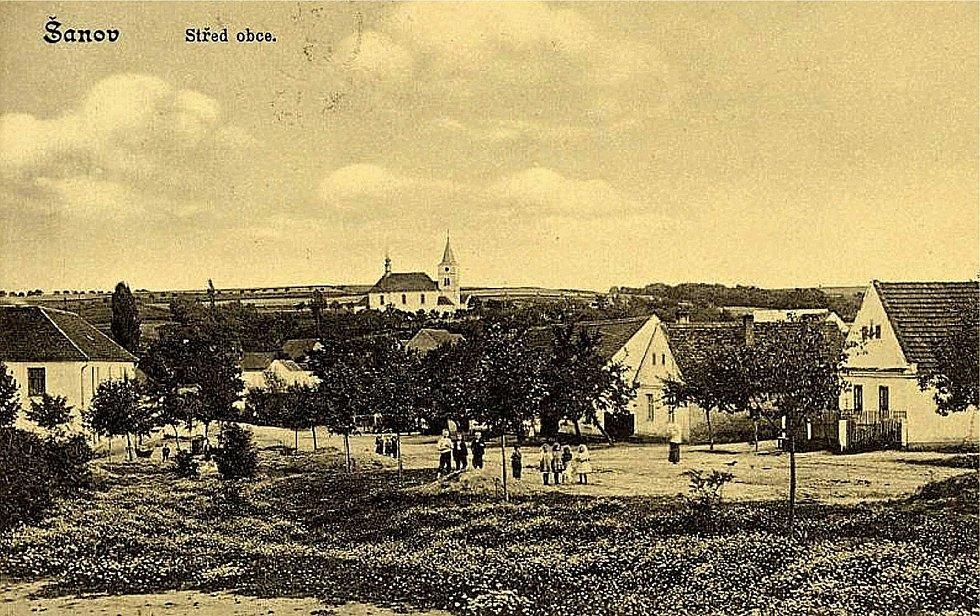 Pohled na Šanov z roku 1921.