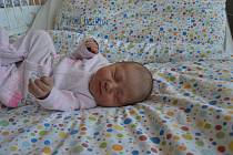 HANA RÁCOVÁ, LAŠOVICE. Narodila se 17. února 2019. Po porodu vážila 3,0 kg a měřila 49 cm. Rodiče jsou Kateřina a Lukáš.