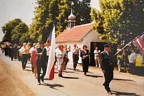 Oslavy v Malinové v poslední čtvrtině 20. století.