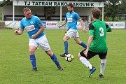 Z fotbalového utkání krajské I.B třídy Tatran Rakovník B - Unhošť