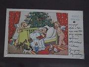 Výstava novoročních a vánočních pohlednic