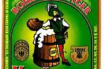 Královský pivovar Krušovice. Etiketa využívaná od roku 1991 na láhve vyvážené do USA.