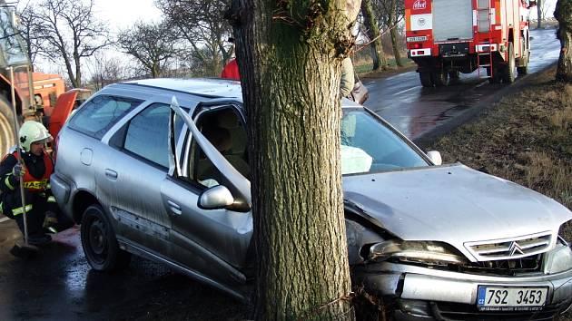Dopravní nehoda u Pavlíkova