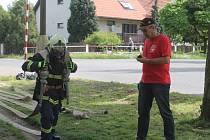Soutěž Železný hasič v Kněževsi