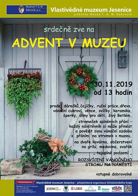 Vlastivědné muzeum Jesenice. Advent vmuzeu. .