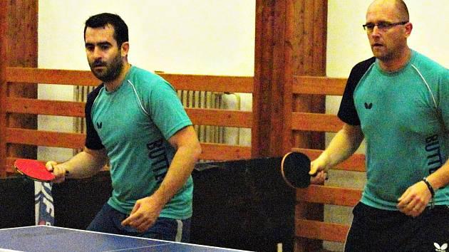 Šanovští Petr Vaculík (vlevo) a Václav Hejda bodovali nejen v singlech, ale i spolu v deblech.