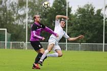 Z divizního fotbalového utkání Tatran Rakovník - Aritma Praha (1:3)