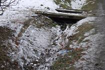 Místo dopravní nehody v Panoším Újezdu