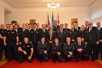 Poděkování novostrašeckým dobrovolným hasičům a městské policii.