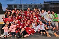 Rakovničtí hokejbalisté jsou mistři II. NHbL, v posledním finálovém zápase porazili v prodloužení Jungle Kladno 4:3